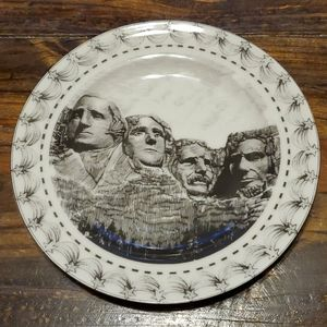 222 Fifth Slice of Life Mount Rushmore Salad Plate